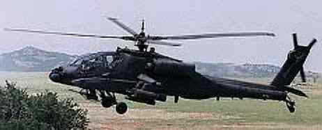 Apache helicopter side view