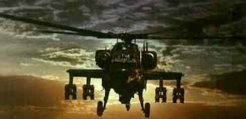 Apache helicopter front view
